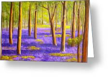Bluebell Wood Greeting Card by Heather Matthews