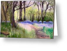 Bluebells At Dusk Greeting Card