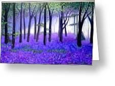 Bluebells Forest-bluebells Wood Greeting Card