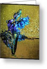 Bluebells In Water Splash Greeting Card