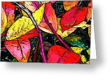 Blueberry Autumn Leaves Greeting Card