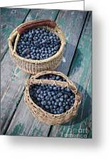 Blueberry Baskets Greeting Card
