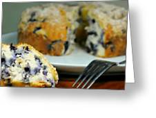 Blueberry Bundt Cake Greeting Card