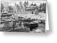 Blueberry Pond  Greeting Card