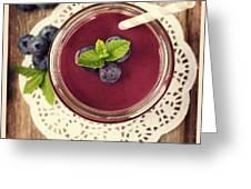 Blueberry Smoothie Retro Style Photo.  Greeting Card