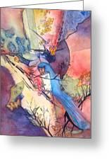 Bluebird And Butterflies Greeting Card