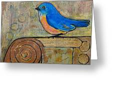 Bluebird Art - Knowledge Is Key Greeting Card