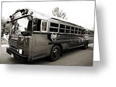 Bluebird Bus Limo 2 Greeting Card
