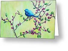 Bluebird Greeting Card
