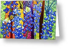 Bluebonnet Garden Greeting Card
