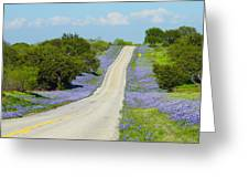Bluebonnet Highway 2am-28667 Greeting Card