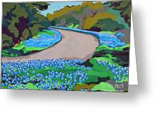 Bluebonnet Road Greeting Card