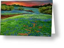 Bluebonnet Sunset Greeting Card