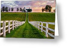 Bluegrass Farm Greeting Card