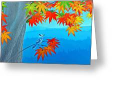 Bluejay In The Fall Greeting Card