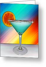 Bluemoon Cocktail Martini Greeting Card