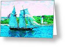 Bluenose Schooner In Halifax Greeting Card
