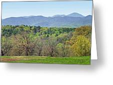 Blueridge Mountains In The Spring Greeting Card