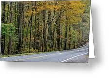 Blueridge Parkway Virginia Greeting Card
