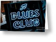 Blues Club On Bourbon Street Nola  Greeting Card