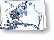 Blues In Blue Greeting Card
