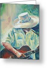 Blues Man Greeting Card by Sharon Sorrels