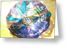 Blues Mandala Bowl Greeting Card