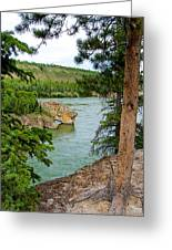 Bluff Over The River In Five Finger Rapids Recreation Site Along Klondike Hwy-yt  Greeting Card