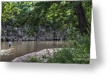 Bluffs Along Big River Greeting Card
