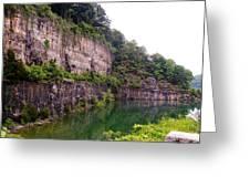 Bluffs Near Marina Norris Dam State Park Greeting Card