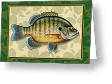 Blugill And Pads Greeting Card