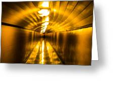 Blur Tunnel Greeting Card