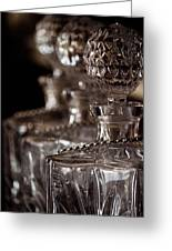 Blurred Bottles Greeting Card by Mamie Thornbrue