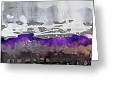 Blurred Fence Greeting Card