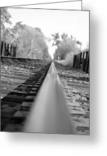 Blurred Track Greeting Card
