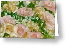 Blush Beige Floral Greeting Card