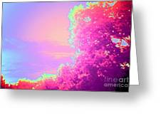 Blush Frondescence Greeting Card