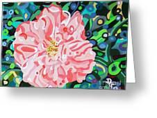 Blushing Camellia Greeting Card