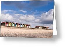 Blyth Beach Huts Greeting Card