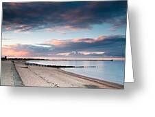 Blyth Harbour At Sunset Greeting Card