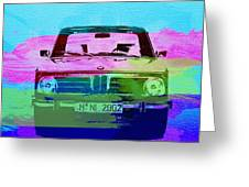 Bmw 2002 Front Watercolor 1 Greeting Card by Naxart Studio