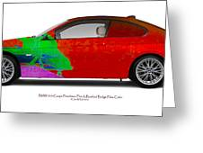 Bmw 335i Coupe Frenchman Flat Hot Colors Nts Greeting Card