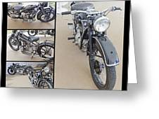 Bmw Art Deco Bikes Greeting Card