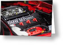 Bmw M Power Greeting Card