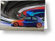 Bmw M3 Art Car Greeting Card