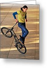 Bmx Flatland Ride - Wonderful Warm Light Greeting Card