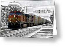 Bnsf Train Greeting Card
