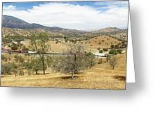 Bnsf4604 Manifest Westbound In The Tehachipi Loop. Greeting Card
