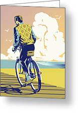 Boadwalk Bike Greeting Card