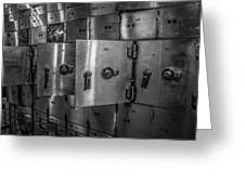 Chicago Board Of Trade Deposit Boxes Greeting Card